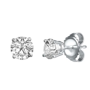 Four Prong Diamond Studs