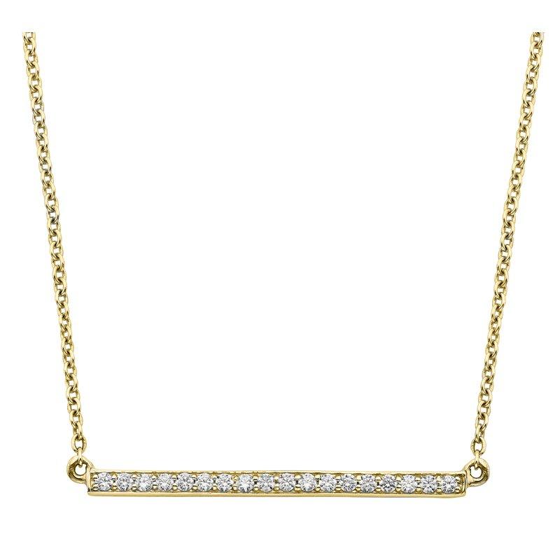 Billig Signature Diamond Bar Pendant