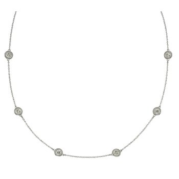Six Stone Diamond by the Yard Necklace
