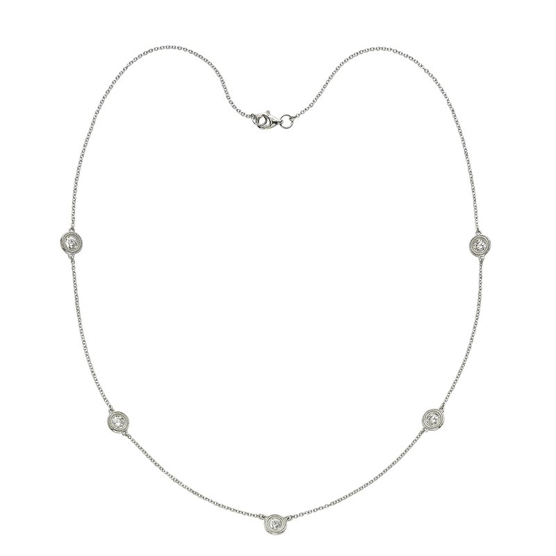 Billig Signature Five Stone Diamond by the Yard Necklace