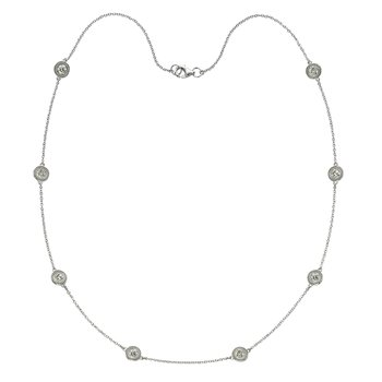 Eight Stone Diamond by the Yard Necklace