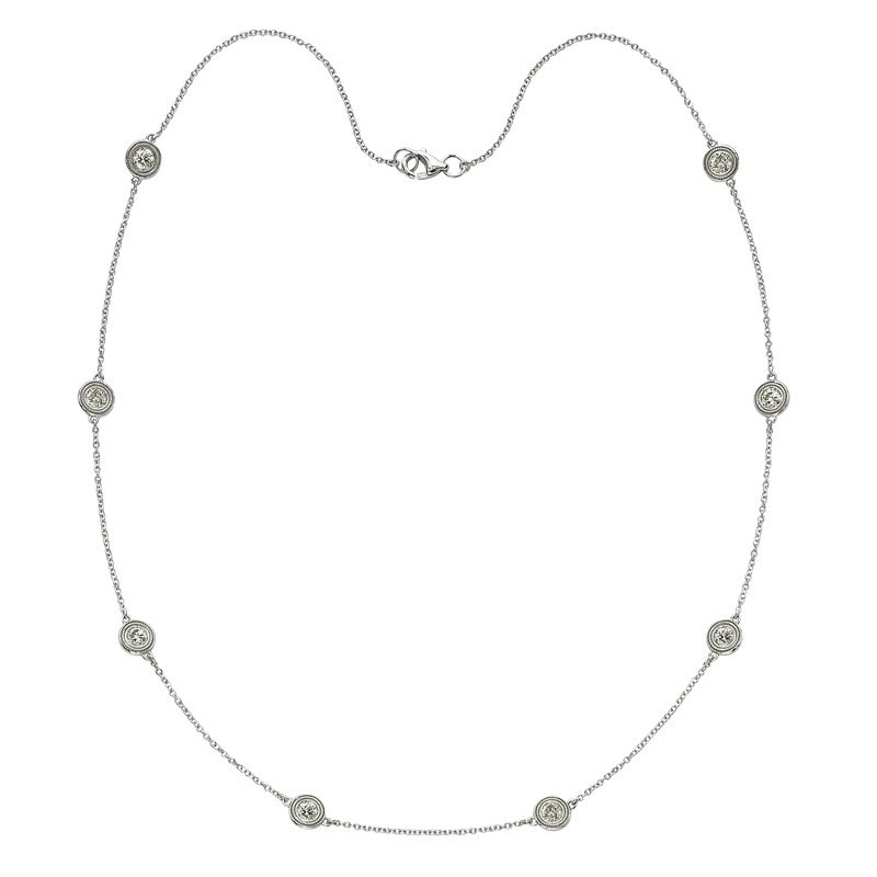 Billig Signature Eight Stone Diamond by the Yard Necklace