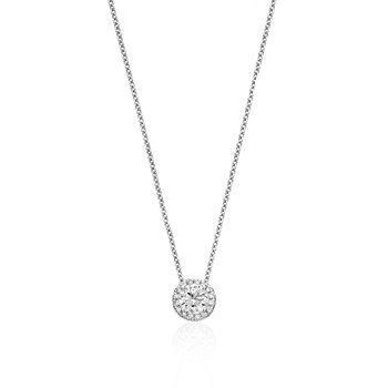 Diamond Solitaire Pendant with Halo
