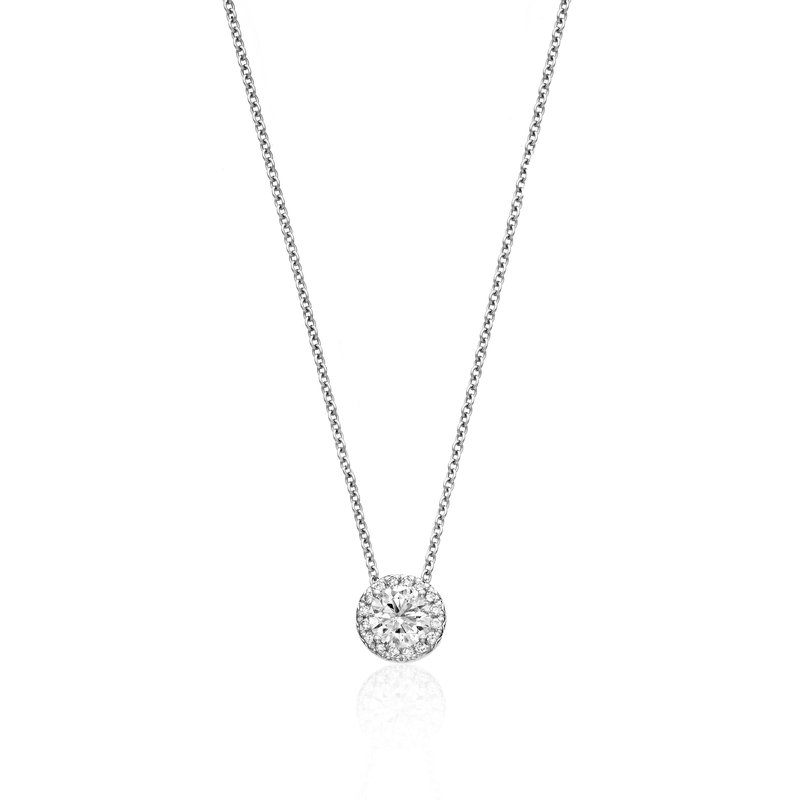 Billig Signature Diamond Solitaire Pendant with Halo