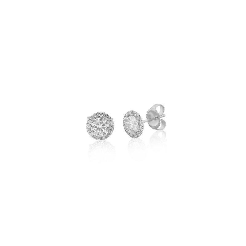 Billig Signature Diamond Studs with Halos