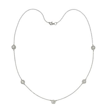 Five Stone Diamond by the Yard Necklace