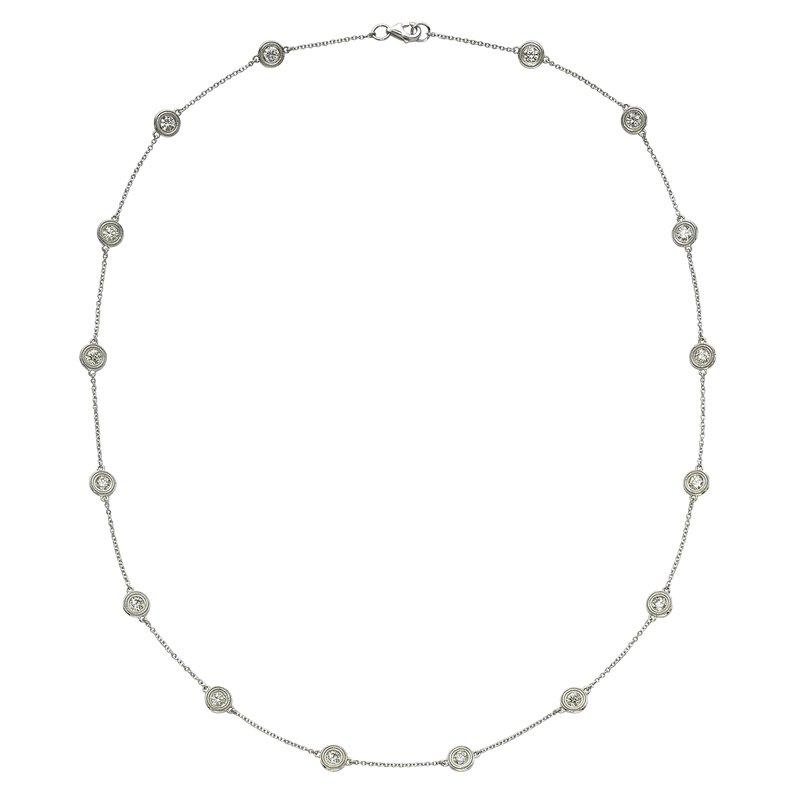 Billig Signature Sixteen Stone Diamond by the Yard Necklace