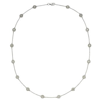 Sixteen Stone Diamond by the Yard Necklace