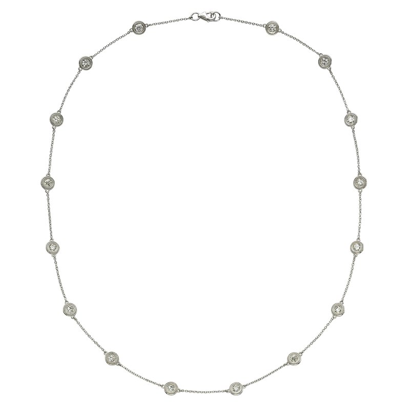 Billig Signature Sixteen Stone Diamond by the Yard Necklace