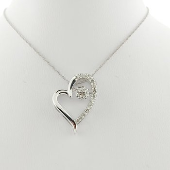 .33 CT Heart Dancing Diamond 10KW