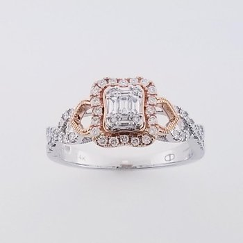 .39 CT SI/GH Illusion 14KT Rose/White