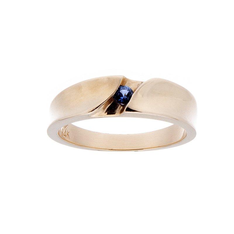 Yogo Sapphire Mens Ring - 14ky