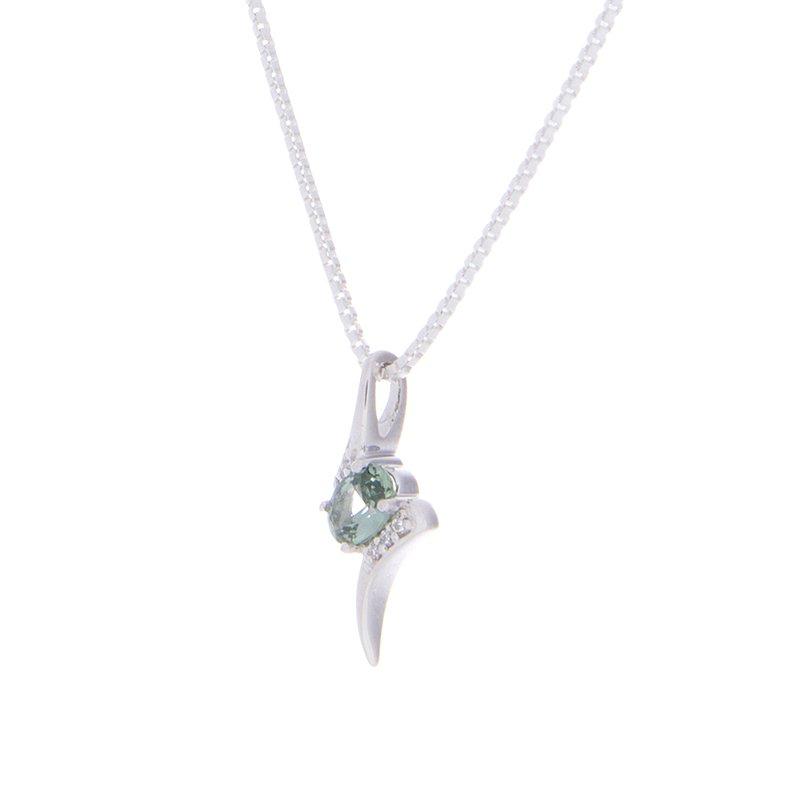 Montana Sapphire Pendant - 14kw