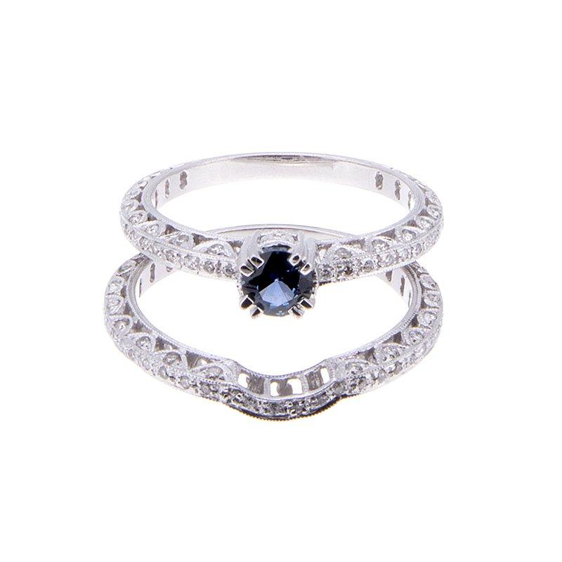 Yogo Sapphire Engagement Ring - 14kw