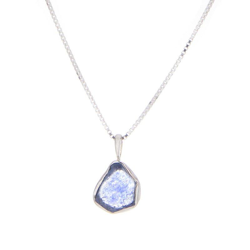 Yogo Sapphire Crystal Pendant - 14kw