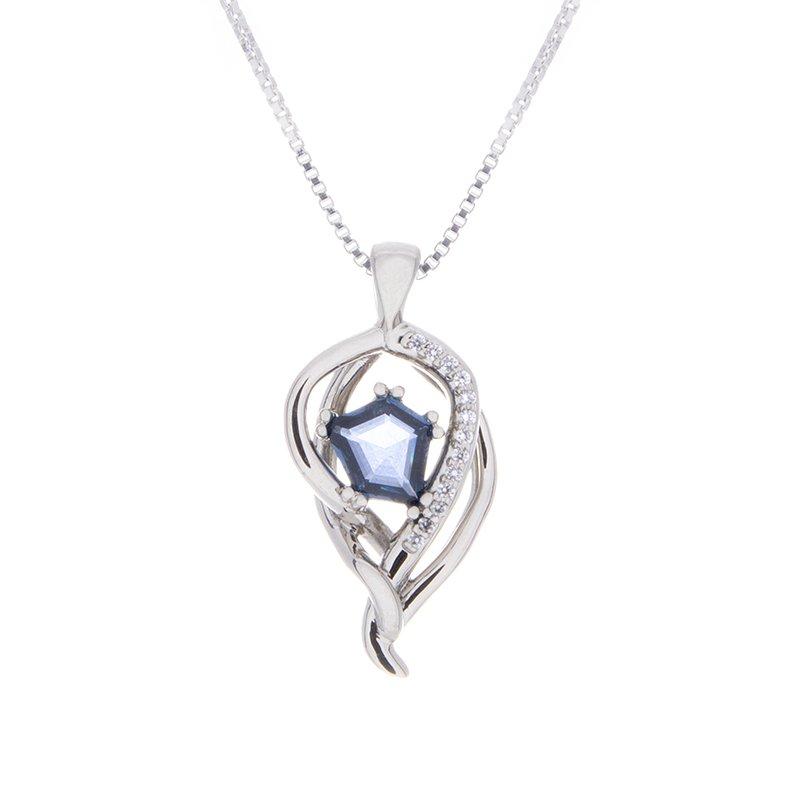 Yogo Sapphire Pendant