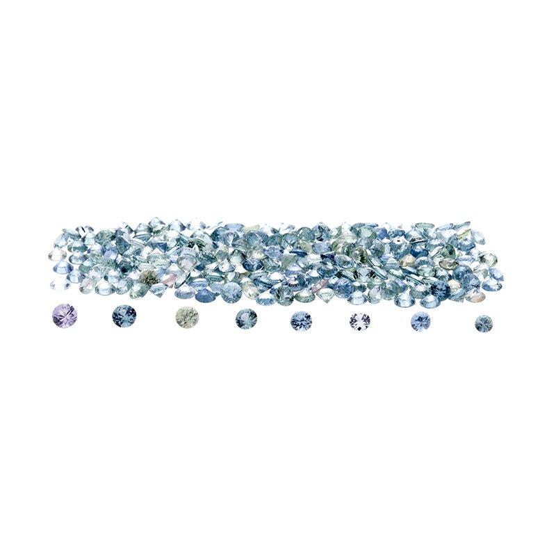 Montana Sapphire - round brilliant (2.0mm - 2.7mm)
