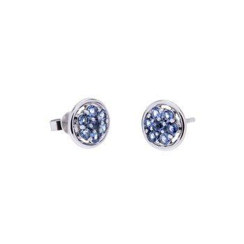 Yogo Sapphire Earrings - 14kw