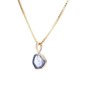 Yogo Sapphire Crystal Pendant - 14ky