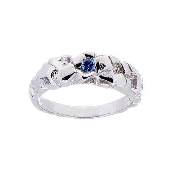 Yogo Sapphire Mens Ring - 14kw