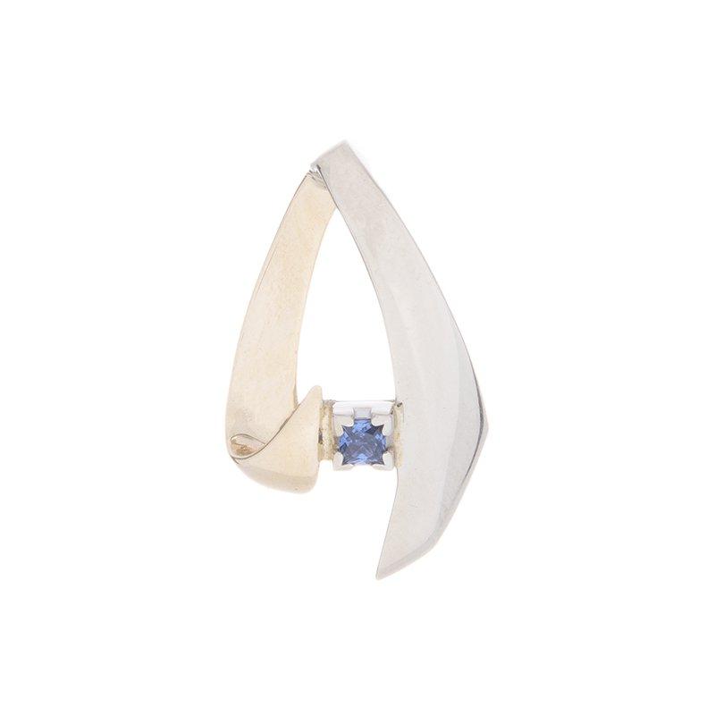 Yogo Sapphire Pendant - 14k