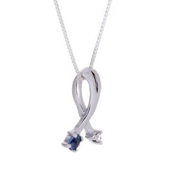 Yogo Sapphire Pendant -14kw