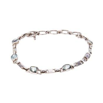 Montana Sapphire Bracelet - Sterling Silver