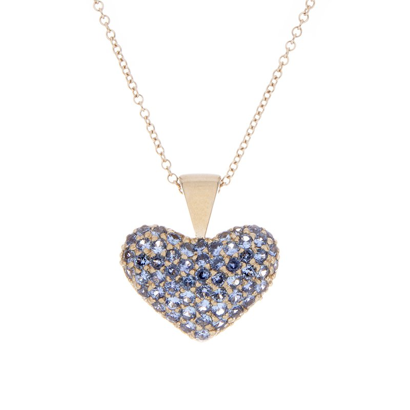 Yogo Sapphire Pendant - 14ky
