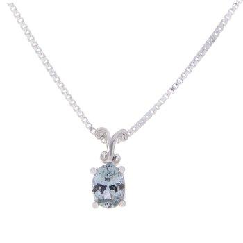 Montana Sapphire Pendant - sterling