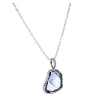 Yogo Sapphire Crystal Pendant - 14k