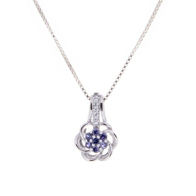 Yogo Sapphire Pendant - 14kw