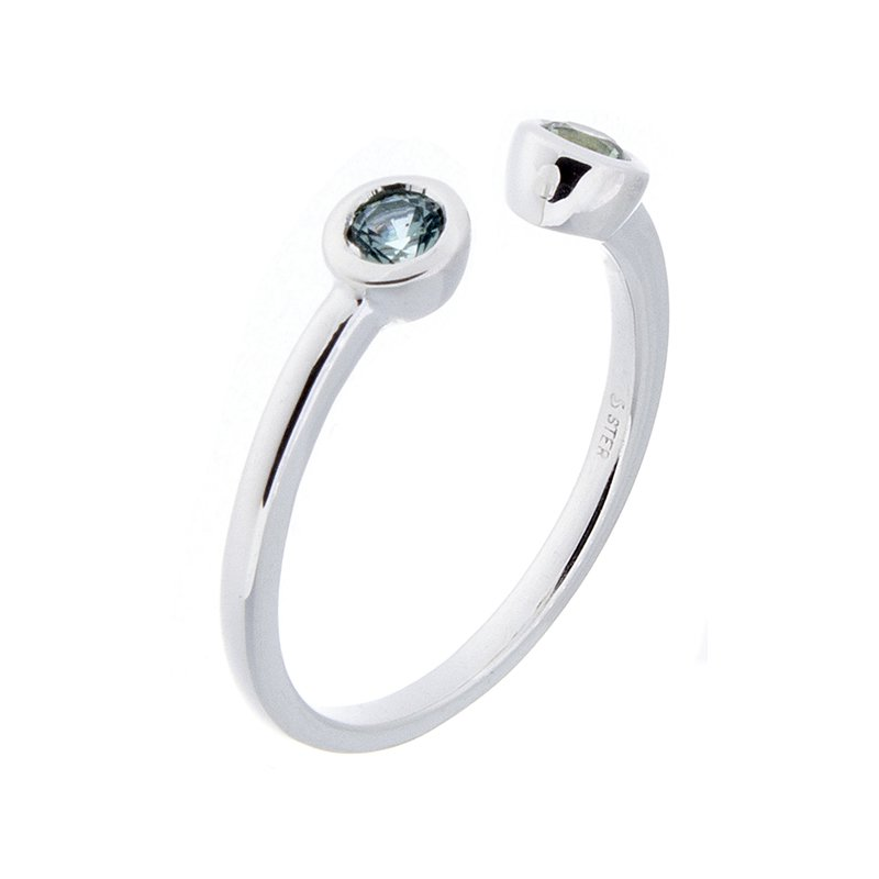 Montana Sapphire Ring - sterling