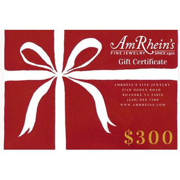 $300 AmRheins Gift Certificate