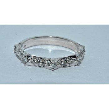 14K-X1 WG diamond wedding band