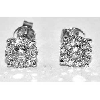 Dazzling cluster earrings featuring 22 r