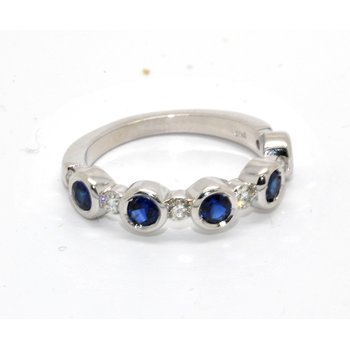 14K-X1 White Gold Diamond & Sapphires