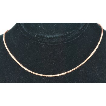 "Chain 18"" Wheat 14k Rose gold 1.2mm"