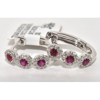 This luxurious pair of ruby earrings