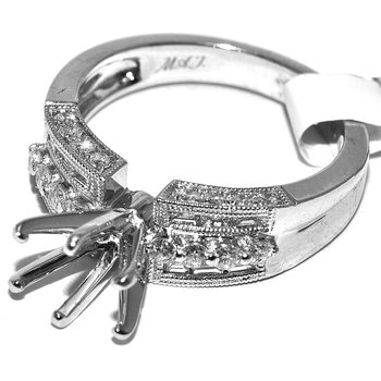 Exquisite 14K white gold detailed diamon