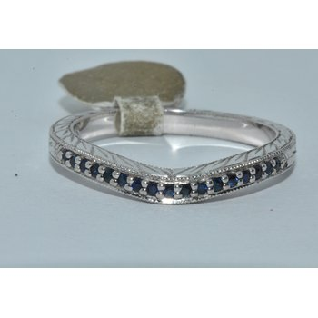 Lds. 14K WG Matching WB with sapphires