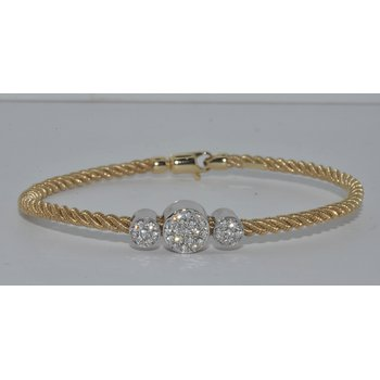 14K YG 3 Diamond CircleBrac