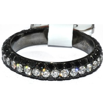 18K Black & White Dia Eternity wb