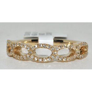 14K YG Diamond Wedding Band