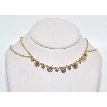 Cluster and Bezel Diamond Necklace
