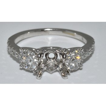 14K WG Diamond Eng Ring