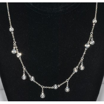 14K WG Diamond Necklace