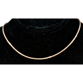 "Chain 18"" 1.2mm 14k ose gold"