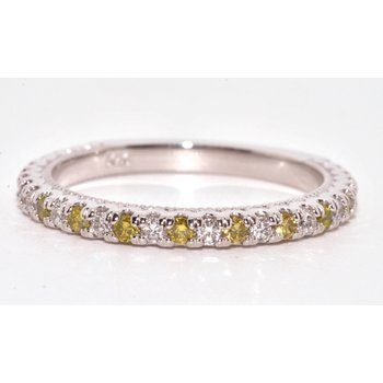 14K-X1 White Gold Yellow & White Diamond