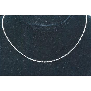"Chain 18"" 1.2mm Bead 14k WG"
