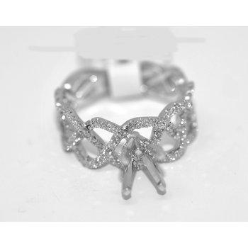 18K WG Diamond Eng Ring